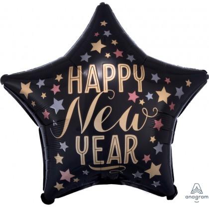 "S40 17"" Satin New Year Standard Satin Star XL®"
