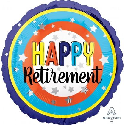 "S40 17"" Happy Retirement Colorful Circles Standard HX®"