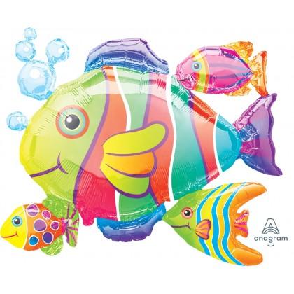"P40 30"" Tropical Fish Cluster SuperShape™ XL®"