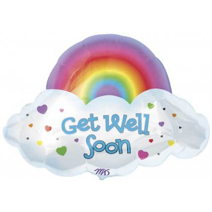 "P35 24"" Get Well Soon Rainbow & Cloud SuperShape™ XL®"
