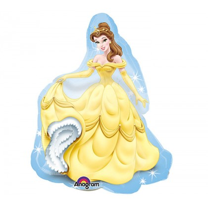 """P38 32"""" Princess Belle With BackGround SuperShape™ XL®"""