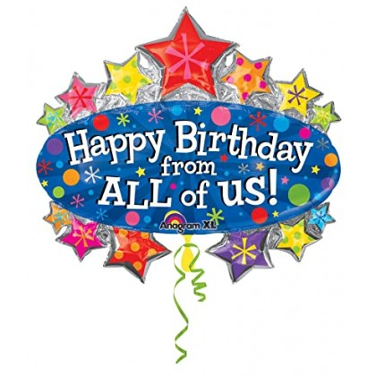 """P35 25"""" Happy Birthday from All Marquee SuperShape™ XL®"""