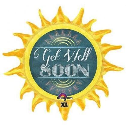 """P38 29"""" Chalkboard Sun Get Well SuperShape™ XL®"""