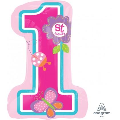 "P30 28"" Sweet Birthday Girl SuperShape™ XL®"