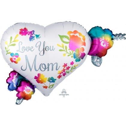 "P30 27"" Love You Mom Watercolor Supershape"