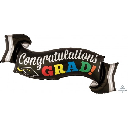 "P35 28"" Congratulations Grad Banner SuperShape™"