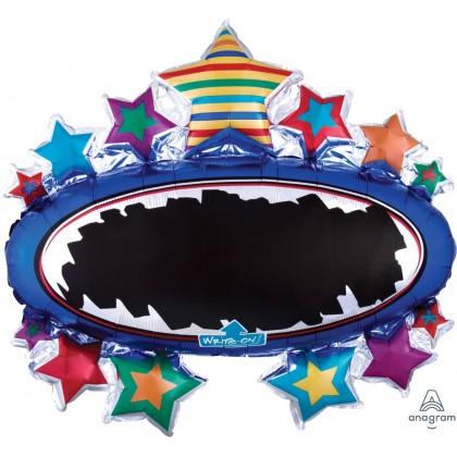 "P50 31"" Bright Star Black Board Marquee SuperShape XL® Write-On™ XL®"