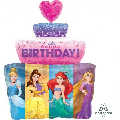 """P38 28"""" Multi-Princess Cake SuperShape™ XL®"""