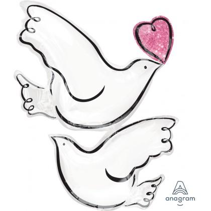 "P35 32"" Wedding Doves SuperShape™"
