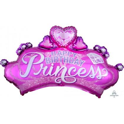 "P35 23"" Princess Crown & Gem SuperShape™"