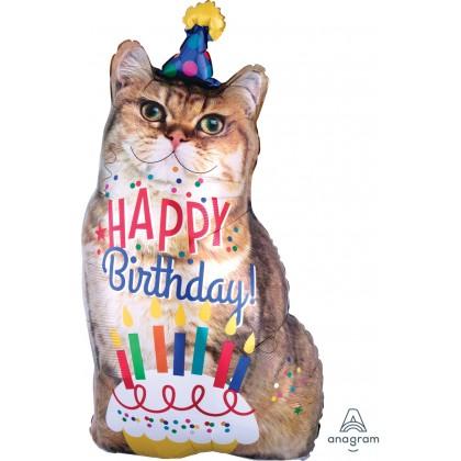"P30 34"" Happy Birthday Cat SuperShape™ XL®"