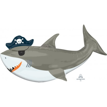 "P35 41"" Ahoy Birthday Shark SuperShape™ XL®"