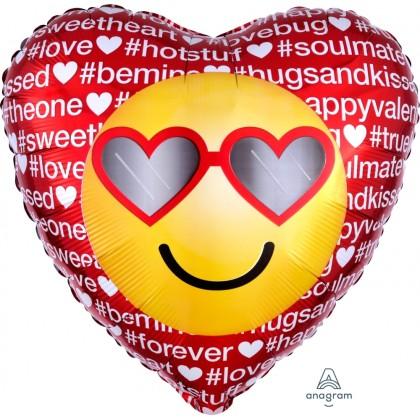 """S40 17"""" Hashtag Love Emoticon Standard HX®"""