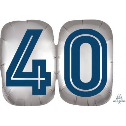 "P35 25"" Happy Birthday Man 40 SuperShape™ XL®"