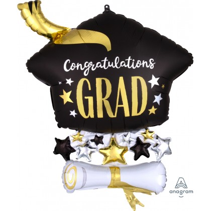 "P35 25"" Satin Infused Cap & Diploma SuperShape™ XL®"
