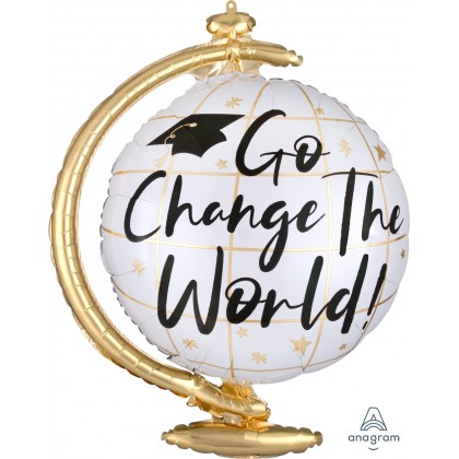 "P35 36"" Go Change the World Globe SuperShape™ XL®"