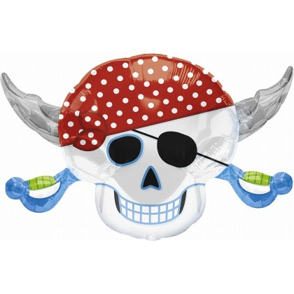 """P35 28"""" Pirate Party Skull SuperShape™"""