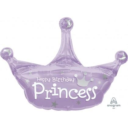 """P30 34 """" Birthday Princess Crown SuperShape™ XL®"""