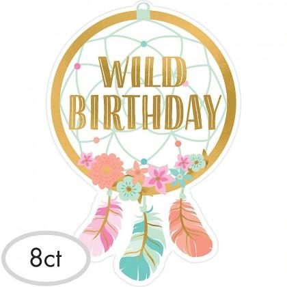 BOHO Birthday Girl Postcard Invitation