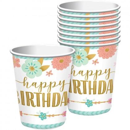 BOHO Birthday Girl Cups