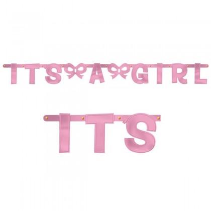Baby Shower Girl Large Letter Banner
