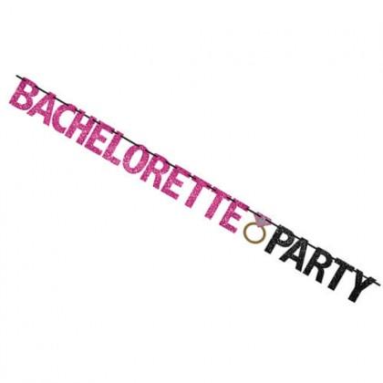 Bachelorette Party Banner - Glitter Paper w/Ribbon