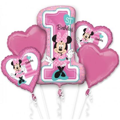 P75 Minnie 1ST Birthday Bouquet