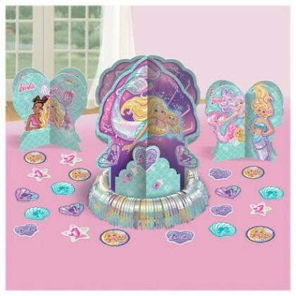 Barbie Mermaid Table Decorating Kit - Paper & Foil Fringe