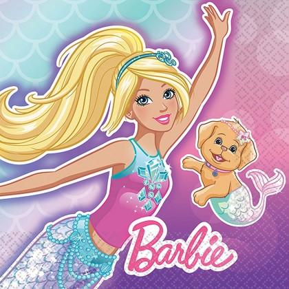 Barbie Mermaid Beverage Napkins