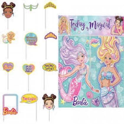 Barbie Mermaid Scene Setters® w/Props - Plastic, Hot-Stamped Paper & Foil