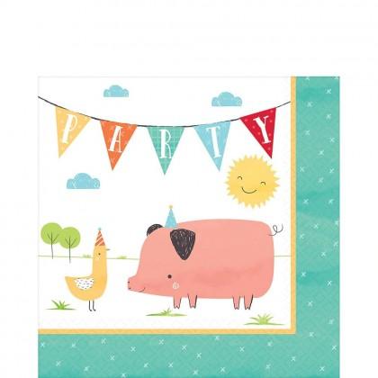 Barnyard Birthday Luncheon Napkins