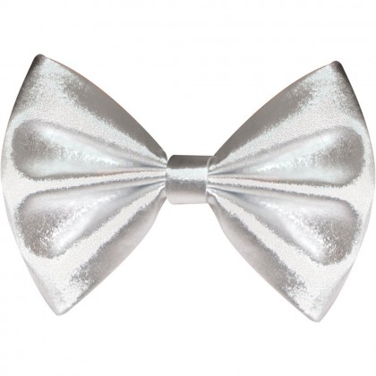 """3 1/4"""" x 6"""" Bow Ties Silver"""