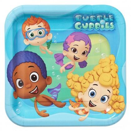 "Bubble Guppies™ Party Square Plates, 9"""
