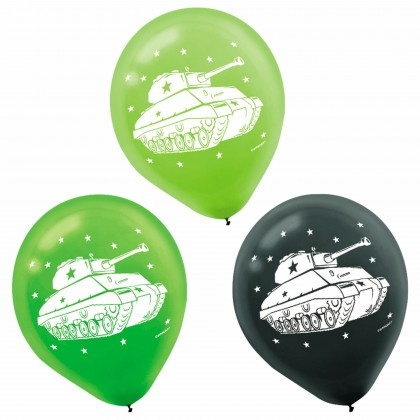 Camouflage Printed Latex Balloons - Asst. Colors