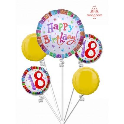 Elegant 18th Birthday Balloon Bouquet