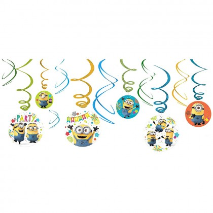 Despicable Me™  Value Pack Spiral Decorations - Paper