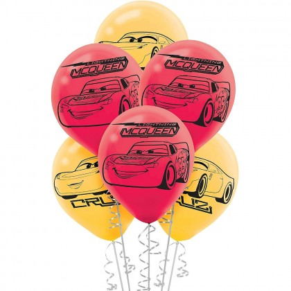 Disney Pixar Cars 3 Printed Latex Balloons Asst Colors
