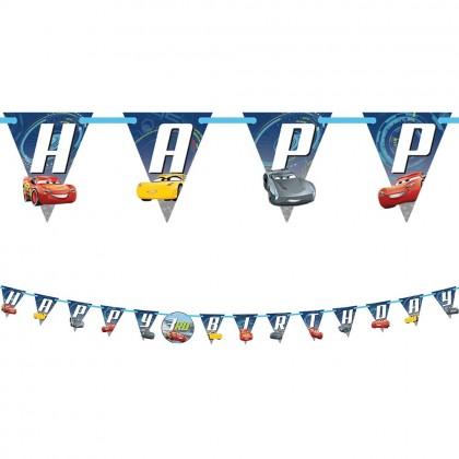 Disney Pixar Cars 3 Jumbo Add An Age Letter Banner Printed Paper