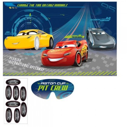 Disney Pixar Cars 3 Party Game Paper