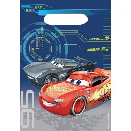 Disney Pixar Cars 3 Folded Loot Bags Plastic