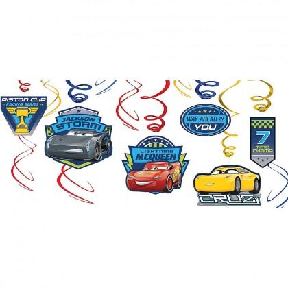 Disney Pixar Cars 3 Value Pack Spiral Decorations Paper