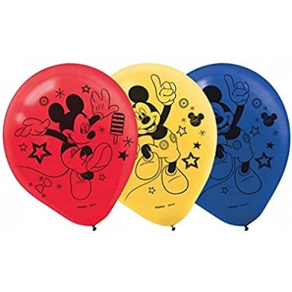 Disney Mickey On The Go Printed Latex Balloons Asst Colors