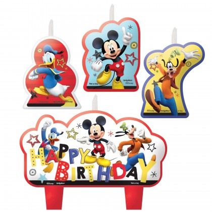 Disney Mickey On The Go Birthday Candle Set