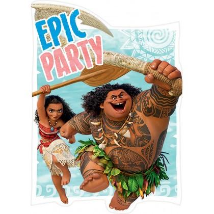 Disney Moana Postcard Invitations