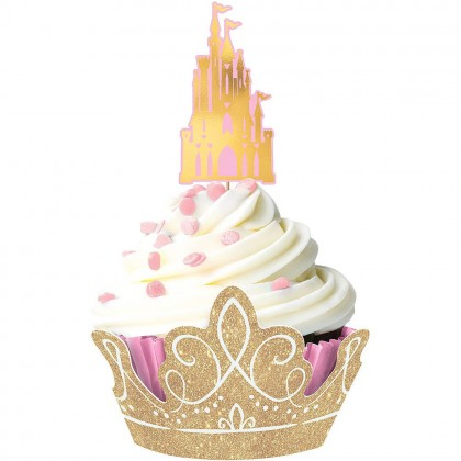 ©Disney Princess Once Upon A Time 1 Cupcake Kit - Paper w/Glitter & H-S Foil