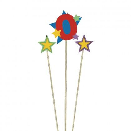 Candle Birthday Pick Star #0