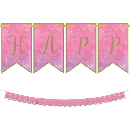 Disney Princess Once Upon A Time Pennant Banner - Paper & Ribbon