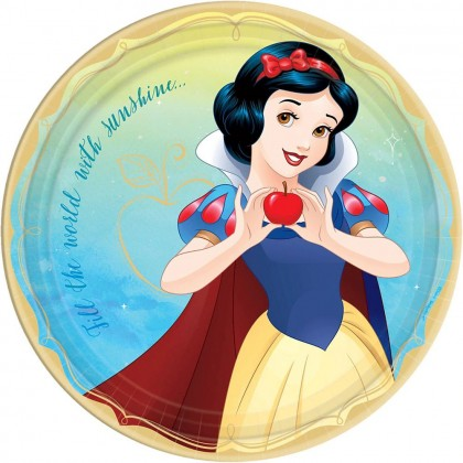 ©Disney Princess Once Upon A Time Round Plates, 9 in - Snow White