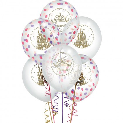 ©Disney Princess Once Upon A Time Printed Latex Balloons w/Confetti