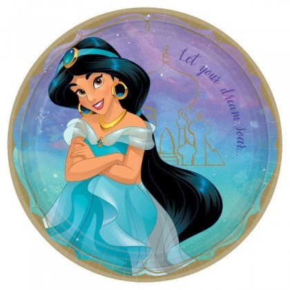 ©Disney Princess Once Upon A Time Round Plates, 9 in - Jasmine